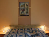Doppelbett im Landhaus